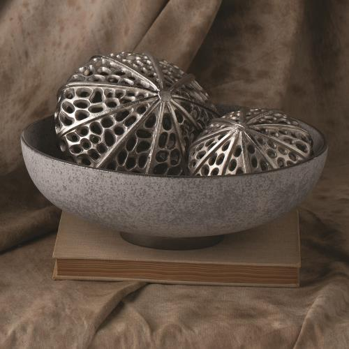 Silver Banded Bowl-Grey