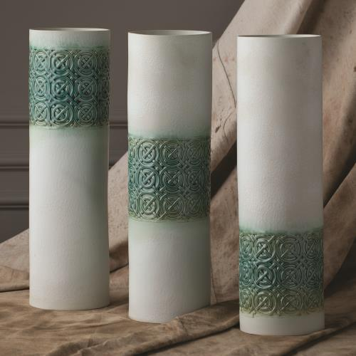 Woven Cuff Vase-Jade-Low