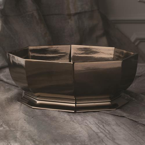 Octagonal Cachepot-Bronze