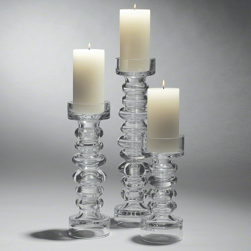 Glass Ribbed Candleholder/Vase