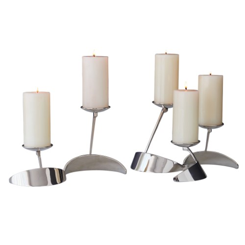 Pinwheel Candle Holder-Nickel
