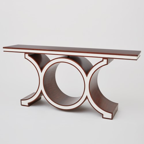 Link Console-Walnut/Ivory