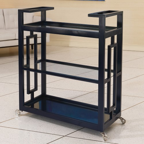 Grid Block Bar Cart-Ink