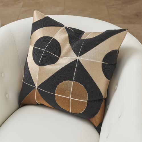 Circle Marquetry Pillow