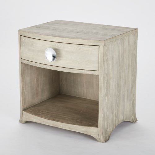 Bow Front 1 Drawer Chest-Grey