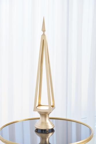 Open Obelisk-Brushed Brass