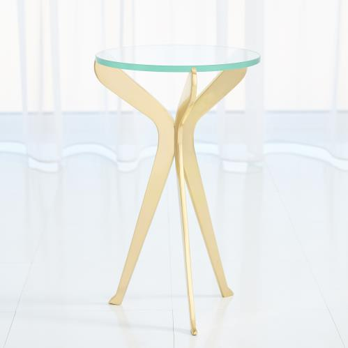 Slice Tripod Table-Brass