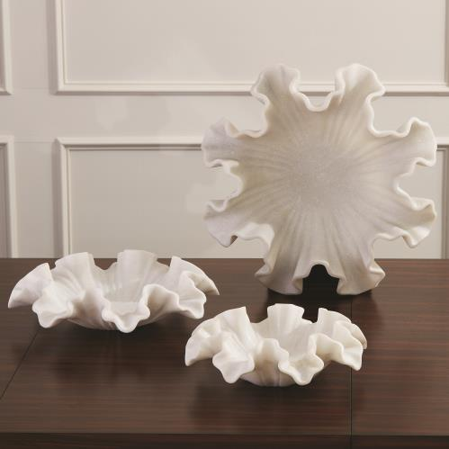 Ruffle Bowl-White