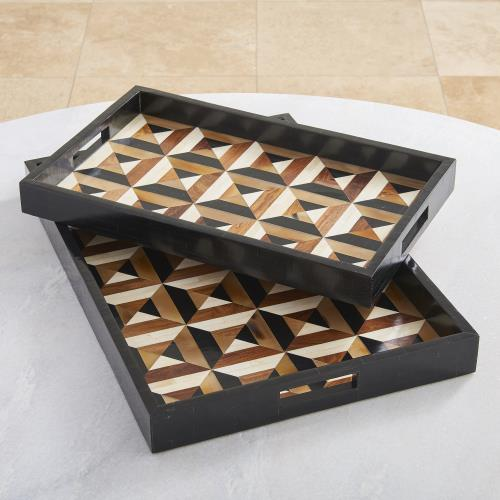 Triangle Marquetry Tray