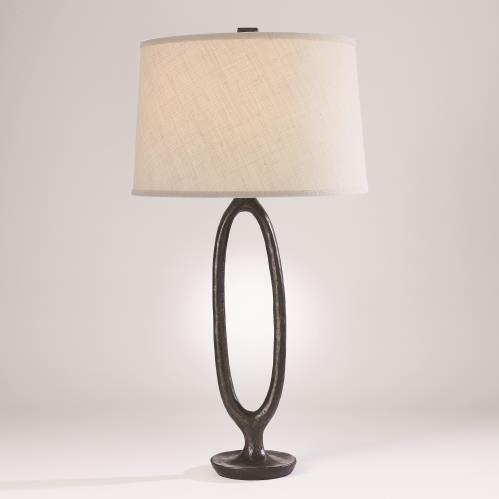 Ellipse Table Lamp-Bronze