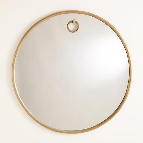 Exposed Mirrors-Antique Brass