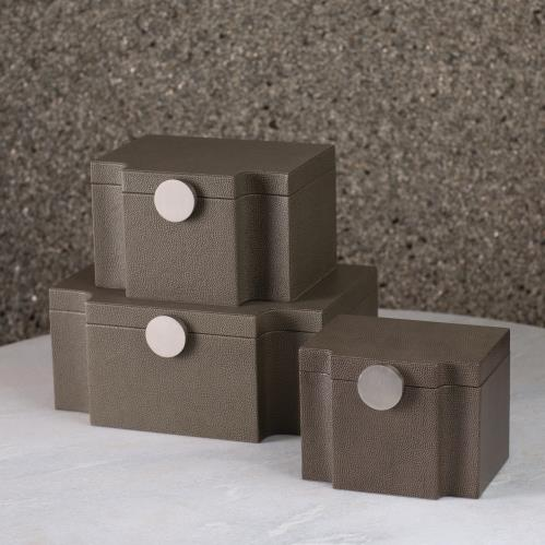 Serpentine Box-Grey Pebble
