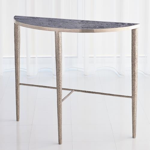 Hammered Console-Antique Nickel w/Grey Marble