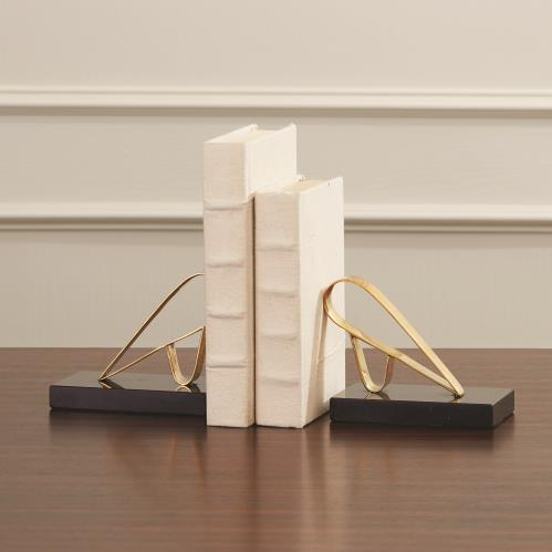 Abstract Bird Bookends-Brass