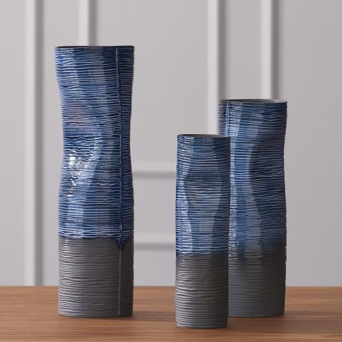 Carved Dented Vase-Ink