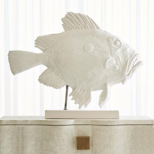 San Pietro Fish Sculpture-Matte White