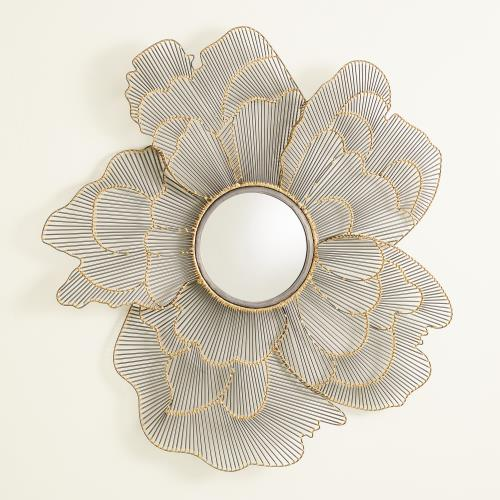 Wire Flower Mirror