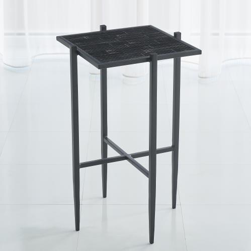 Bel Air Accent Table-Black/Black Mosaic