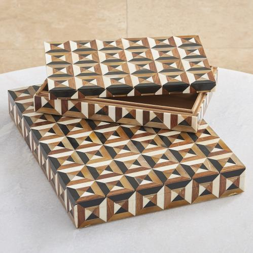 Triangle Marquetry Box