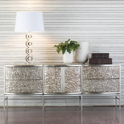 Crinkle Long Cabinet-Nickel/Antique Nickel