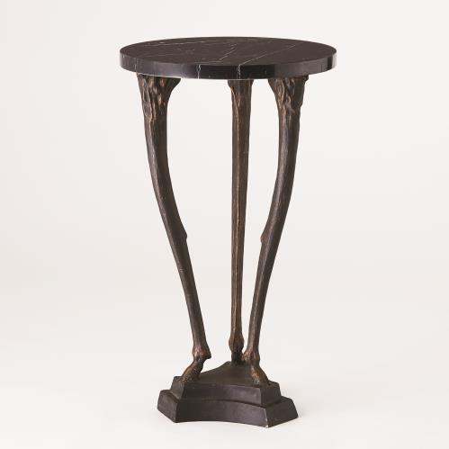 Fawn Leg Side Table-Bronze