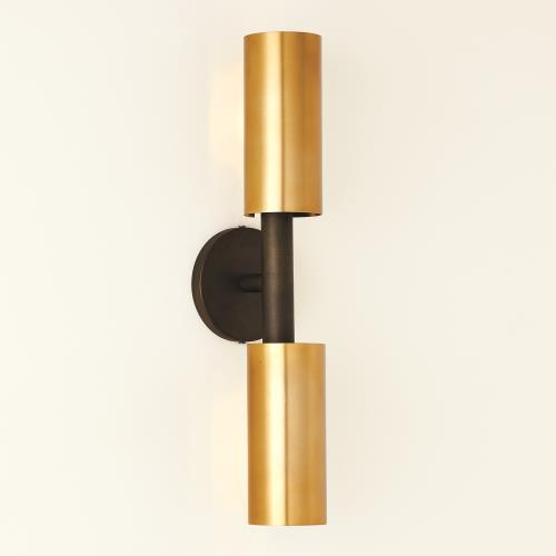Dumbbell Sconce - Bronze/Brass-HW