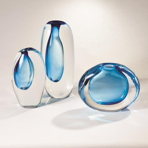 Off Set Vases - Light Blue