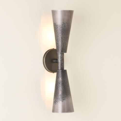 Ombre Trumpet Sconce - Graphite/Pewter-HW