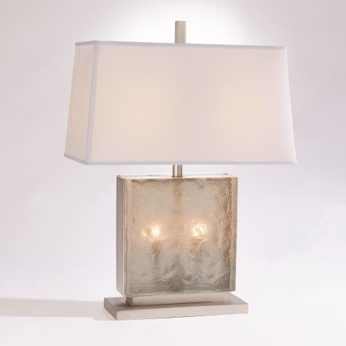 Cube Slab Table Lamp-Antique Nickel