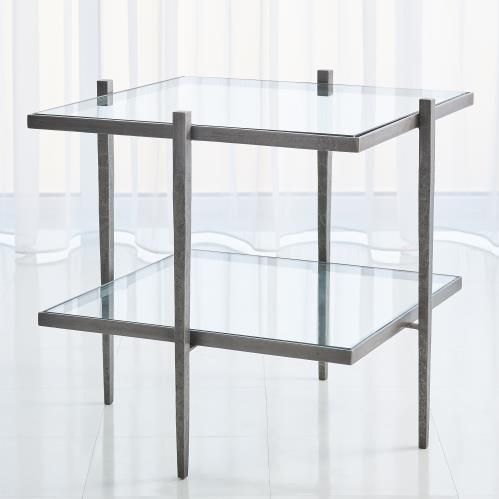 Laforge End Table - Natural Iron