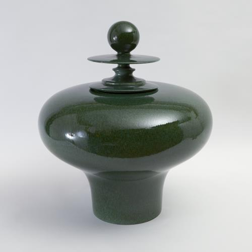 Happy Temple Jar-Emerald