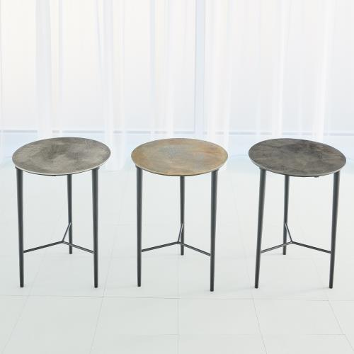 Circle Etched Accent Tables