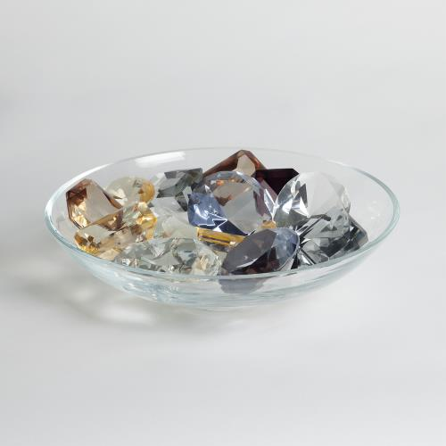 Clear Bowl with 18 Oxford Jewels-2 of Each Color