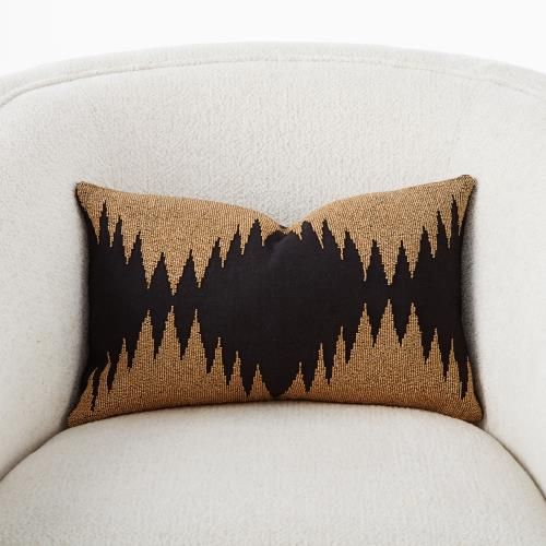Tristan Pillow-Gold Seed Beads/Black