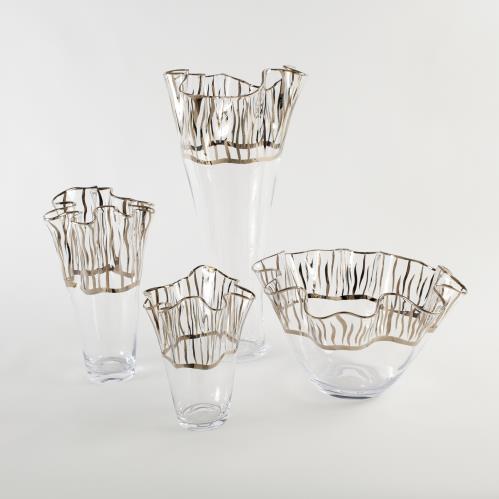 Tropaz Bowl-Vase-Silver