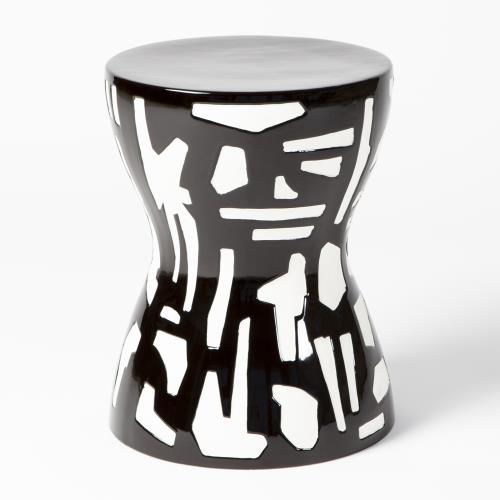 Abstract Stool-Black/White