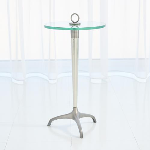 Tripod w/Loop Handle Table-Gunmetal/Nickel