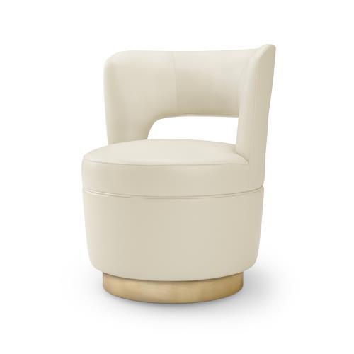 Stella Swivel Chair-Milk Leather