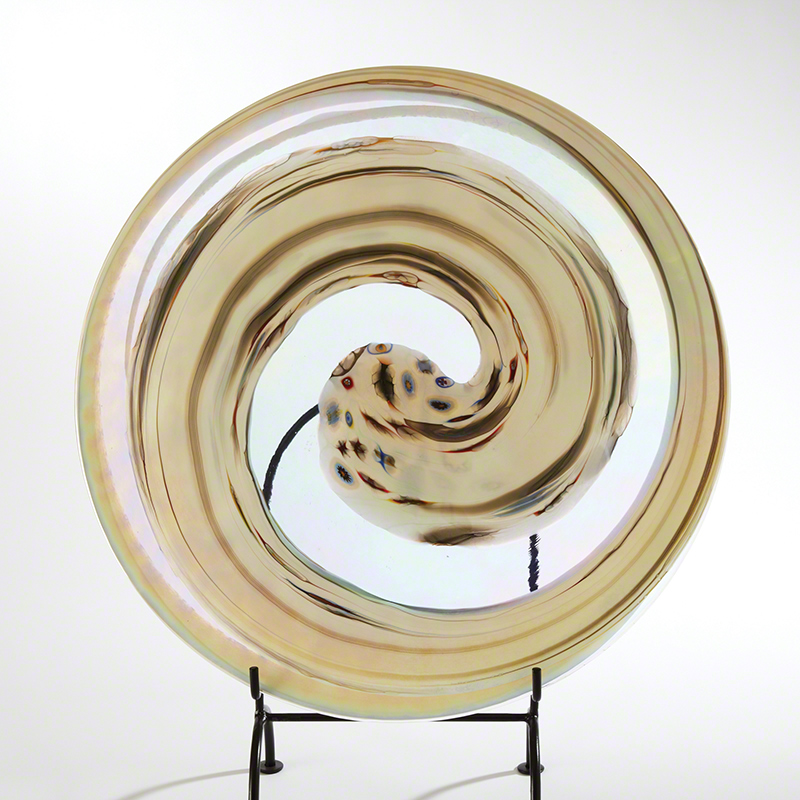Ivory Spiral Flat Plate