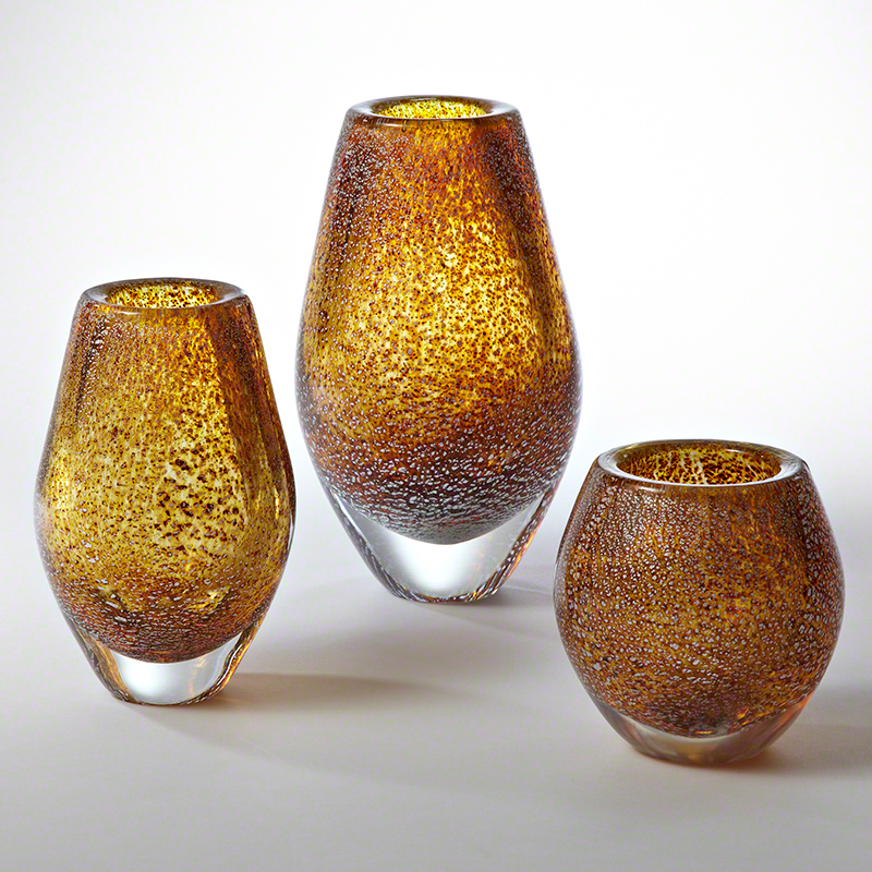 Gold Net Vase