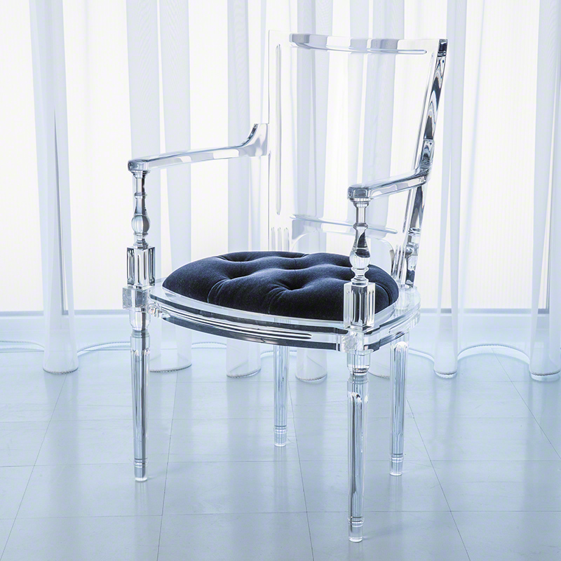Marilyn Acrylic Arm Chair-Admiral Blue