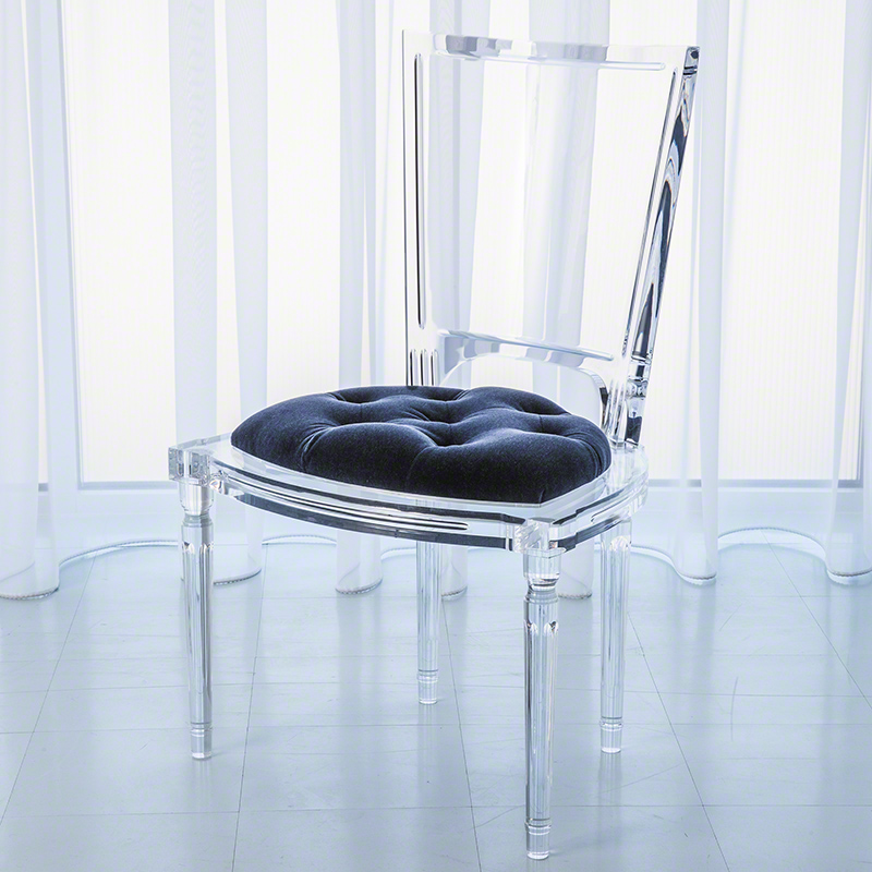 Marilyn Acrylic Side Chair-Admiral Blue