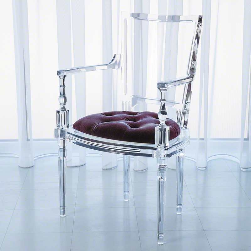 Marilyn Acrylic Arm Chair-Sultana-Lavender
