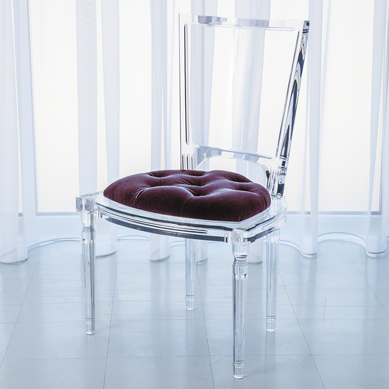 Marilyn Acrylic Side Chair-Sultana-Lavender