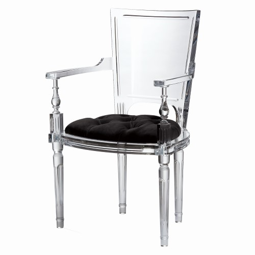 Marilyn Acrylic Arm Chair-Black