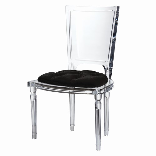 Marilyn Acrylic Side Chair-Black