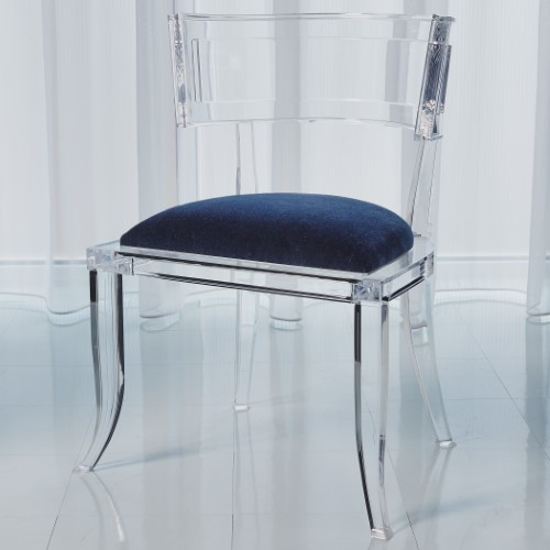 Klismos Acrylic Chair-Admiral Blue