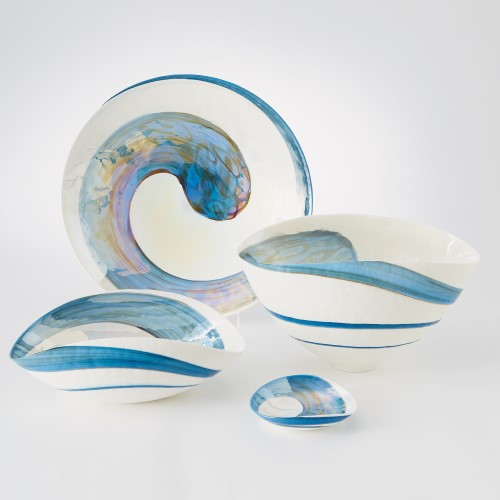 Ocean Swirl Charger