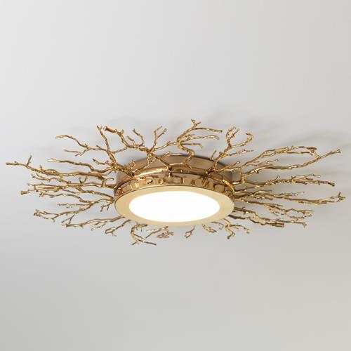 Twig Ceiling Fixture-Brass