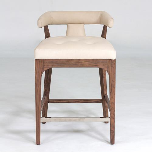 Moderno Stools - Ivory Marble Leather